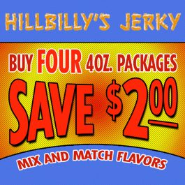 Four 4oz. Packages of Jerky