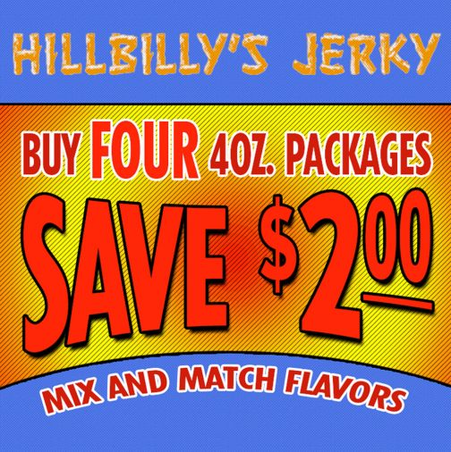 Four 4oz. Packages of Jerky 1