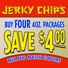 Four 4oz. Packages of Jerky Chips